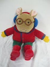 ARTHUR EDEN  PLUSH TOY MARC BROWN RED BOOTS JACKET EARMUFFS