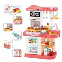 42PCS Kitchen Playset With Light Sound Effect Pretend Kids Play Toy Cooking Set