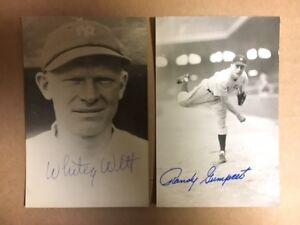 Randy Gumbert NY Yankees Signed Postcard 1940s JSA Precertified