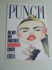 MADONNA Postcard Punch Magazine Cover 13th July 1990 David Hughes  §A2181