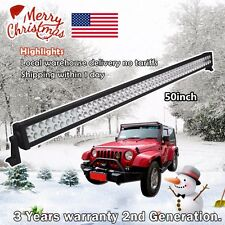 50inch Led Light Bar 288W Work Lamp Off road Driving Fog Truck Jeep SUV ATV 4WD