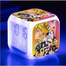 Sailor moon Anime Manga LED Multifunktionswecker Uhr mit Light Neu