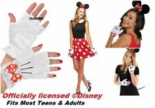 Disney Red Minnie Mouse  Fingerless Gloves  - Minnie Costume Gloves  Adult Teen