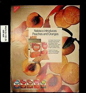 1970 Nabisco Peaches and Oranges Toastettes Vintage Print Ad 19766