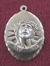 Vintage Catholic Religious Holy Medal - STERLING 925 - ECCE HOMO - Face of Jesus