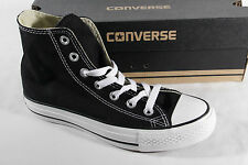 Hommes Converse All Star Hi Noir Chaussures toile UK 6