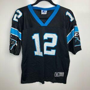 Starter Football Jersey Youth XL Black Carolina Panthers #12 Collins Vtg