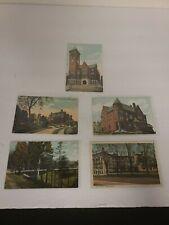 Lot of 5 Vintage Postcards BANGOR MAINE ME City Hall, YMCA, Riverside Park