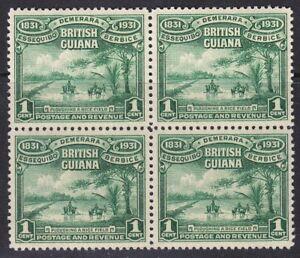 BRITISH GUIANA 1931 SG283 1c EMERALD-GREEN BLOCK OF FOUR MNH