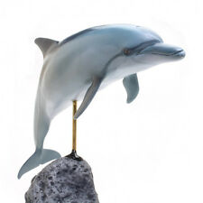 New KAIYOUKOUBOU Bottlenose Dolphin Excellent figure Fish Carving True to Life