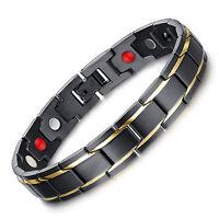 Mens TITANIUM Germanium Magnetic Bracelet Health Armband Pain Aid & Fitness