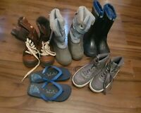 *F*A*B*Boys Winter Boots,  Wellies , High Top* Size 2 * Tresspas *shoes bundle