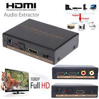1080P HDMI Splitter 1X2 EDID HDMI audio extractor Spdif/coaxial/Aux audio output