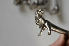 vintage silver plated knife rests holders ,various animals:goat, squirrel,dog..