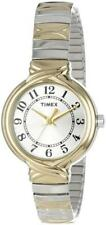 Timex Women's T2N979 Elevated Classic Two Tone Expansion Band Watch