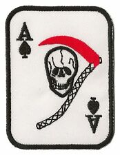 Patch écusson brodé patche As de Pique thermocollant Ace of Spades insigne