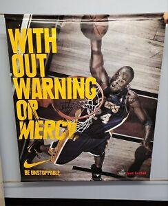 Kobe Bryant Nike Footlocker Window Banner RARE 5'x4' Heavy Vinyl Coated