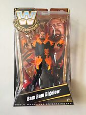 WWE Mattel Elite Legends BAM BAM BIGELOW Wrestling Figure WWF Damaged Card