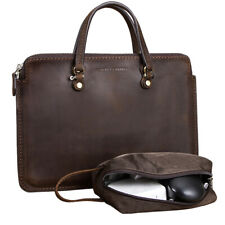 15'' Laptop Case Cowhide Leather Carry Bag Cover Sleeve Handbag For Macbook Pro