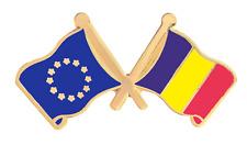 Andorra Fédéral & Union Européenne Drapeau Amitié Courtoisie Plaqué or Broche