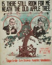 1915 Is There Still Room For Me Neath The Old Apple Tree Sheet Music New York
