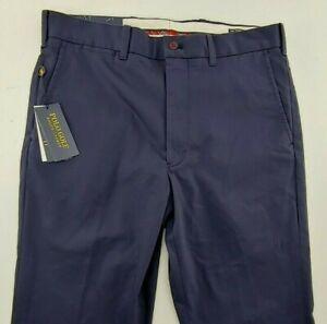 Polo Golf Ralph Lauren Pants Men's 32 x 32Navy Tailored Fit Flat FrontNWT $98