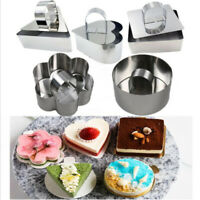 Stainless Steel Cake Moulds Dessert Cupcake Mousse Pastry Bakeware Baking Tool