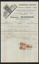 """ANGERVILLE (91) POELE Idéal / CHAUFFAGE CHAUDRONNERIE """"Henri MIGNON"""" en 1928"""