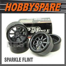 4 x DRIFT SPARKLE 1/10 RC DRIFT WHEEL FLINT SPARK EFFECT 5mm OFFSET