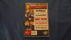 Die Hard 4.0/Jumper/Max Payne/Hitman/Babylon AD - DVD - R4 - Free Postage