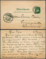 L540 Norway fieldpost postcard stationery Feldpostkontor n°1 Kristiania 1900
