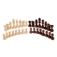 Hot 32pcs/set wooden chess king 5.5cm height.total weight about 90g for Kid VU