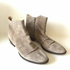 Seychelles Women's 9 Gray Garnet Suede Leather Ankle Boots