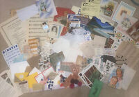 Vintage Ephemera Huge Lot Paper Craft 100+ pc Scrapbook Collage Junk Journal- A