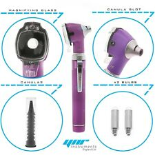 YNR Otoscope Mini Pocket Fiber Optic Purple Medical Diagnostic NHS GP CE Mark