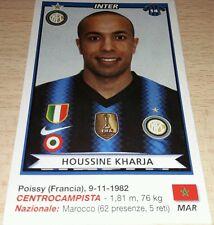 AGGIORNAMENTO FIGURINE CALCIATORI PANINI 2010/11 INTER KHARJA ALBUM