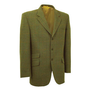 Alan Paine Compton Tweed Jacket Wool Mens Shooting Hunting Blazer