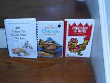 LOT OF 3 VINTAGE BEST WAYS TO COOK YOUR CHICKEN COOK BOOKS CHICKEN IS KING *RARE