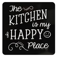 TIN MAGNET - THE KITCHEN IS MY HAPPY PLACE
