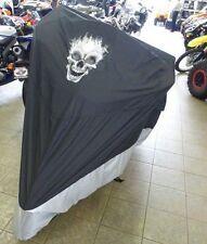 Fit Suzuki Boulevard C50 Motorcycle Cover w/FLAME SKULL Logo Indoor Outdoor Cove