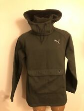 PUMA MENS SIZE LARGE  - Green Removable Hood Sweat Shirt - EUC