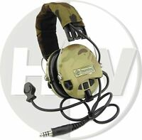 SOFTAIR TOY TOMTAC SORDIN HEADSET MIC BOOM RADIO MSA DESIGN WOODLAND MULTICAM