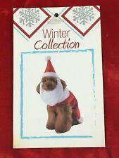 "NWT Santa Claus Christmas Dog Costume Pet w/ Hat & Beard Large 18-20"" New"