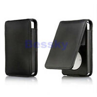 US HOT Black Leather Flip Case Cover Skin for Apple iPod Classic 80 120GB