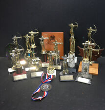 Lot of 15 Achery Trophies, 1 Metal, 1 Plaque - Upcycle For Your Next Tournament!
