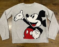 Abercrombie kids girls 11/12 Knitted Mickey Mouse Sweater In Grey