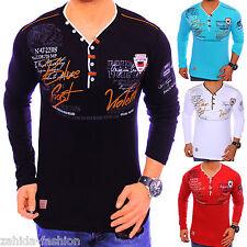 Men's Long Sleeve Shirt Pullover Sweater V-Neck Sweatshirt Hoodie Longshirt New