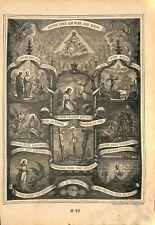 Le pater oraison dominicale seigneur Jésus Christ  Catéchisme Bible GRAVURE 1908