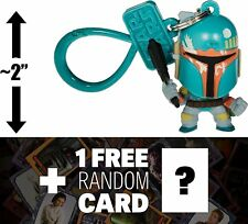 "Boba Fett: ~2"" Star Wars Mini-Figural Bag Clip + 1 FREE Official Star Wars..."