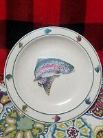 "Rainbow Trout Folkcraft Stoneware by Scotty Z - Dinner Plate 11"" -"